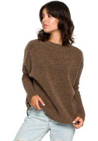 Sweter oversize MOE ze stójką