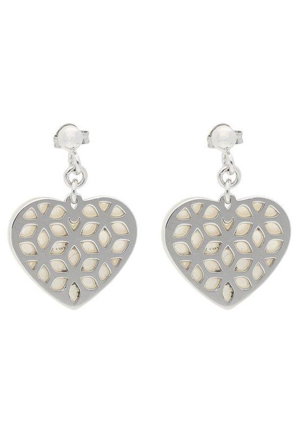 Fossil Kolczyki Heart Cut Out JFS00489040 Srebrny. Materiał: srebrne. Kolor: srebrny
