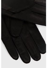 BOSS - Boss - Rękawiczki skórzane. Kolor: czarny. Materiał: skóra