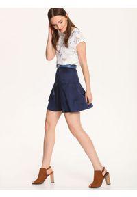 Niebieska spódnica TOP SECRET na co dzień, krótka, w kolorowe wzory