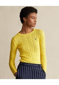 Żółty sweter Ralph Lauren polo, długi