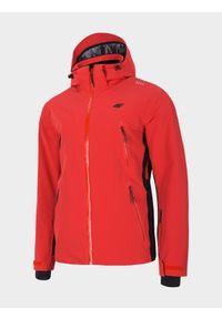 4f - Kurtka narciarska męska. Kolor: czerwony. Materiał: mesh, materiał. Technologia: Dermizax. Sezon: zima. Sport: narciarstwo