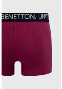 United Colors of Benetton - Bokserki. Kolor: fioletowy. Materiał: bawełna