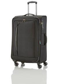 Travelite - TRAVELITE CROSSLITE Walizka duża 102/115L Schwarz 4-koła. Kolor: czarny. Materiał: materiał, poliester. Wzór: gładki. Styl: biznesowy