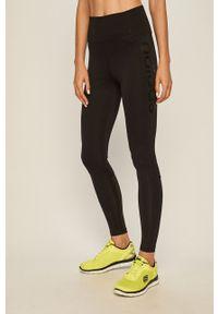 Czarne legginsy Adidas z podwyższonym stanem