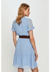 Niebieska sukienka Liu Jo prosta, na co dzień, casualowa