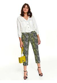 Żółte spodnie TOP SECRET eleganckie, na co dzień