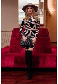 e-margeritka - Sukienka ołówkowa elegancka mini - 40. Materiał: elastan, poliester, materiał. Typ sukienki: ołówkowe. Styl: elegancki. Długość: mini