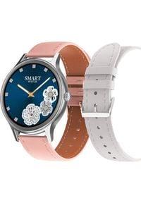 Smartwatch Pacific 18-7 Różowy (PACIFIC 18-7 sr-pink+white). Rodzaj zegarka: smartwatch. Kolor: różowy