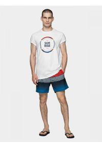 Biały t-shirt outhorn raglanowy rękaw