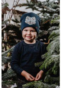 Niebieska czapka Jamiks z nadrukiem