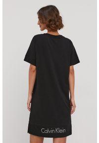 Calvin Klein Underwear - Koszula nocna. Kolor: czarny. Materiał: dzianina. Długość: krótkie