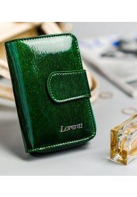 LORENTI - Portfel damski zielony Lorenti 76115-SH-1691 GREEN. Kolor: zielony. Materiał: skóra