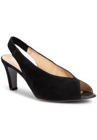 Czarne sandały Gabor na co dzień, casualowe