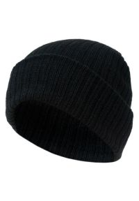 Czarna czapka Pako Jeans klasyczna, na jesień