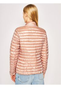 Różowa kurtka puchowa Geox