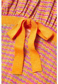 mango - Mango - Sukienka FAIRY. Kolor: pomarańczowy. Materiał: dzianina. Typ sukienki: rozkloszowane