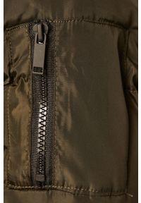 Zielony płaszcz ANSWEAR z kapturem