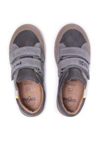 Primigi - Sneakersy PRIMIGI - 7427511 D Grig. Okazja: na spacer, na co dzień. Zapięcie: rzepy. Kolor: szary. Materiał: skóra, skóra ekologiczna, zamsz. Szerokość cholewki: normalna. Styl: casual
