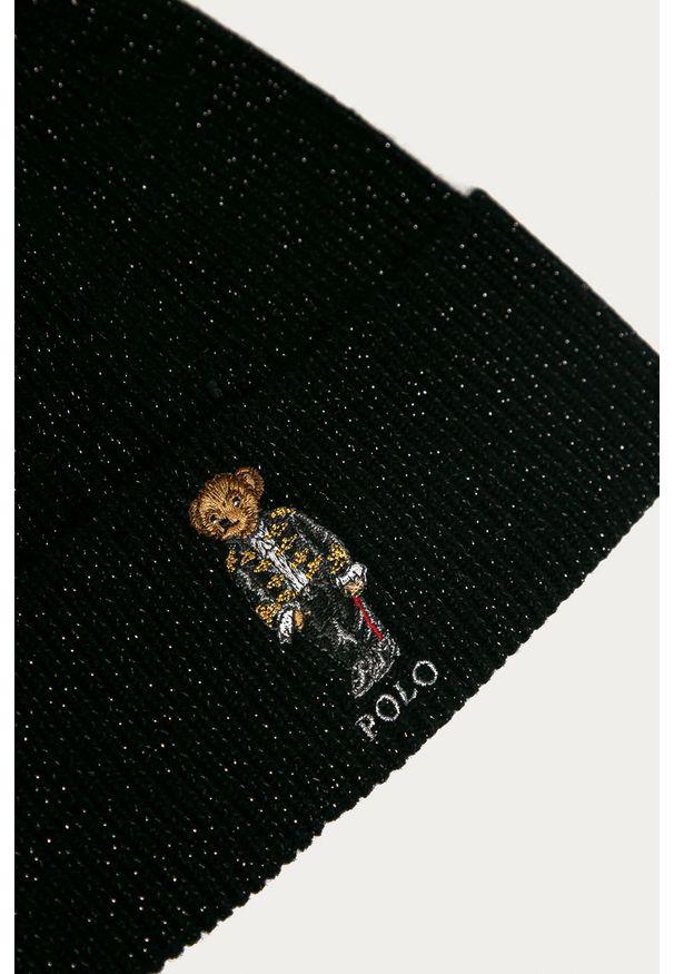 Czarna czapka Polo Ralph Lauren z aplikacjami