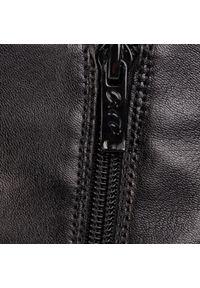 Czarne botki Ara na średnim obcasie, z cholewką, na obcasie