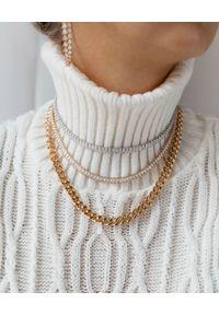 SELFIE JEWELLERY - Złocony naszyjnik z łańcuchem Kim Gold. Materiał: srebrne, pozłacane, z mosiądzu, złote. Kolor: złoty