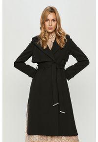 Czarny płaszcz Silvian Heach bez kaptura, klasyczny, na co dzień