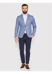Tommy Hilfiger Tailored Koszula Geo Dot Prt MW0MW16466 Niebieski Regular Fit. Kolor: niebieski