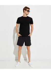 SER.O.YA - Czarny t-shirt Nico. Kolor: czarny. Materiał: materiał. Wzór: aplikacja
