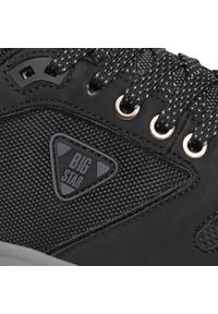 Czarne sneakersy Big-Star z cholewką, na co dzień