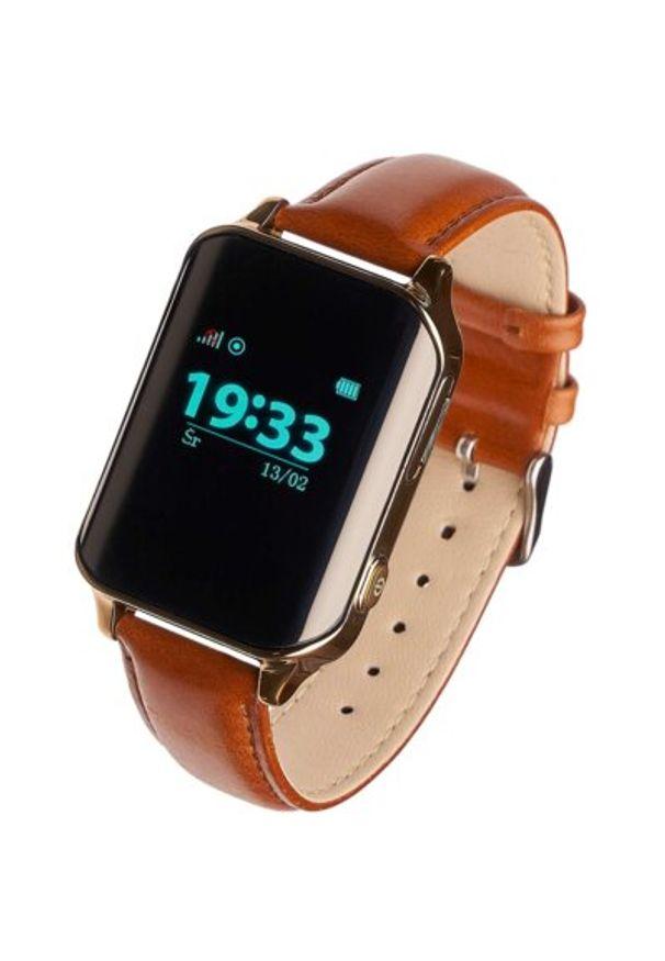 Złoty zegarek GARETT smartwatch, klasyczny