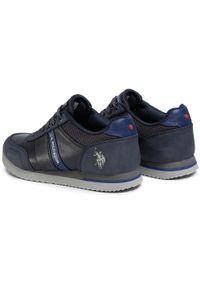 Niebieskie sneakersy U.S. Polo Assn z cholewką