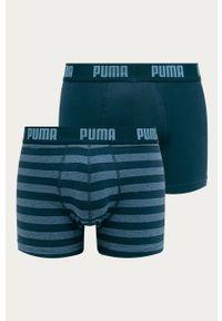 Niebieskie majtki Puma z nadrukiem