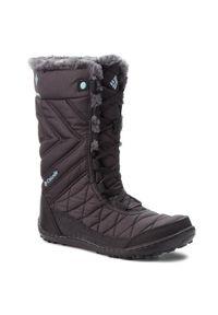 Czarne buty zimowe columbia na spacer, z cholewką