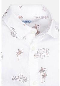Biała koszula Mayoral na co dzień, długa, casualowa