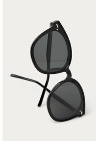 Czarne okulary przeciwsłoneczne Answear Lab okrągłe, gładkie