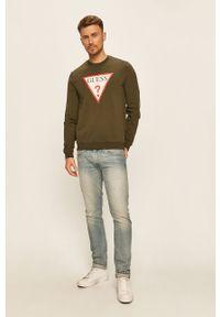Bluza nierozpinana Guess Jeans z nadrukiem, na co dzień, casualowa