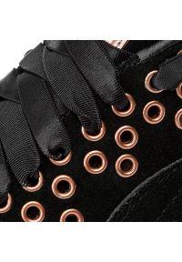 Czarne buty sportowe Puma z aplikacjami, z cholewką