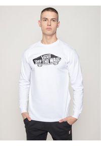 Biała koszulka z długim rękawem Vans