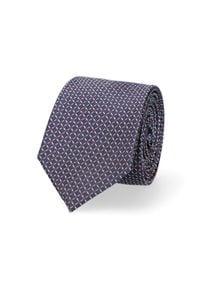 Lancerto - Krawat Mixkolor w Mikrowzór. Materiał: tkanina, jedwab. Styl: elegancki