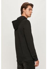 Czarna bluza nierozpinana Reebok Classic z nadrukiem, z kapturem, na co dzień