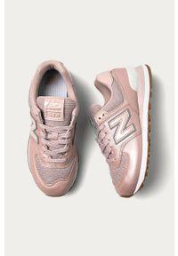 Różowe buty sportowe New Balance z cholewką, z okrągłym noskiem, na sznurówki