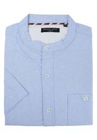 Niebieska koszula casual Brave Soul z krótkim rękawem, krótka