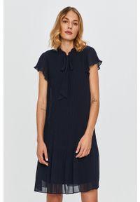 Niebieska sukienka DKNY na co dzień, casualowa, mini