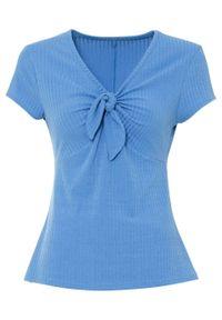 Niebieska bluzka bonprix w prążki