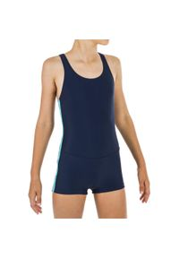 NABAIJI - Strój Jednoczęściowy Pływacki Dla Dzieci. Kolor: niebieski. Materiał: elastan, materiał, poliamid
