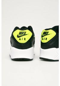 Czarne buty sportowe Nike Kids z okrągłym noskiem, Nike Air Max 90, na sznurówki