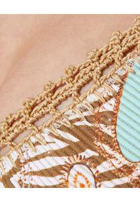 DEL MAAR - Dół od bikini Lamara. Kolor: beżowy. Wzór: haft