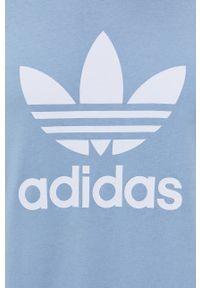 adidas Originals - T-shirt bawełniany. Okazja: na co dzień. Kolor: niebieski. Materiał: bawełna. Wzór: nadruk. Styl: casual