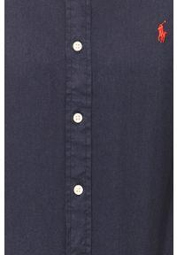 Niebieska koszula Polo Ralph Lauren krótka, na co dzień